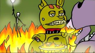 Болезнь Спрингтрапа 5 Ночей с Фредди Комикс на русском ФНАФ Комикс