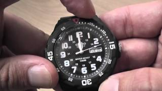 CASIO MRW-200H-1BV Quartz Analog Sports watch unboxing