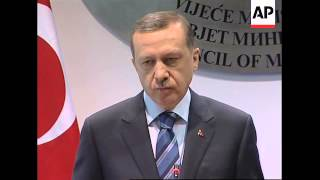 Turkish Prime Minister arrives for two day visit to Bosnia