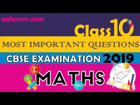Maths Most Important Questions | Part 2 | CBSE Class 10th