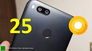 25 Android Oreo 8.0.0 Features in Xiaomi Mi A1 !!! (Tips & Tricks)