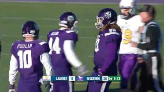 Football vs Laurier - 109th Yates Cup