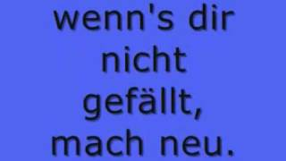 Alles neu -Lyrics