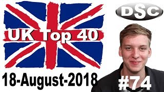 Top 40 Singles Chart 17 August, 2018 № 74