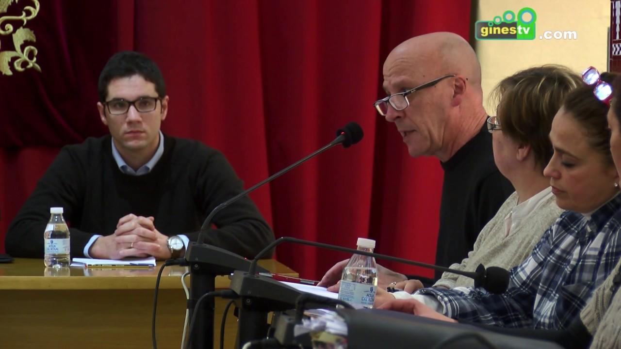 Pleno Ordinario del Ayuntamiento de Gines 31 de enero de 2017