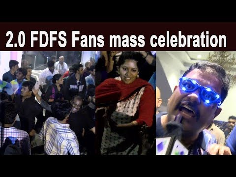 2.0 FDFS Fans mass celebration | Rajinikanth | Shankar | Lyca | A.R.Rahman | 2Point0