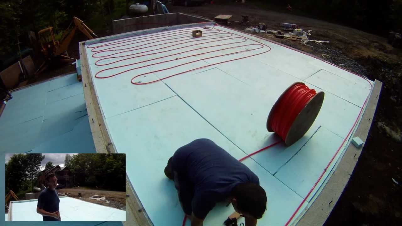 Radiant Heat Pex Tubing Installation - 15 - My Garage Build HD Time ...