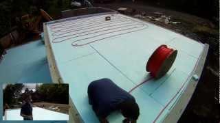 Radiant Heat Pex Tubing Installation - 15 - My Garage Build Hd Time Lapse