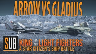 Aegis Gladius vs Anvil Arrow | A Star Citizen's Ship Battle | Alpha 3.8.2