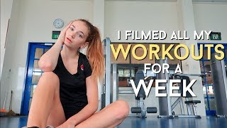 How I workout in a week! Stay fit in high school