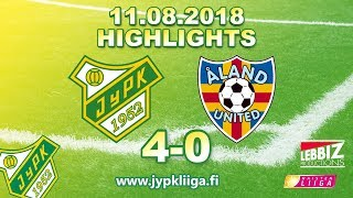 JyPK - Åland United 11.08.2018 Highlights!
