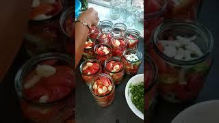 #помидорыслуком#помидорыспетрушкой#салатизпомидор#помидорыназиму#рецепты#консервация#
