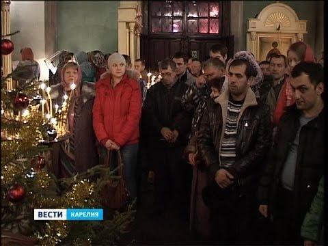 В Карелии встречают Рождество Христово