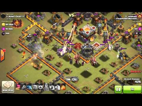 Clash Of Clans - War attacks - Best Strategy A42 - Town Hall level 11