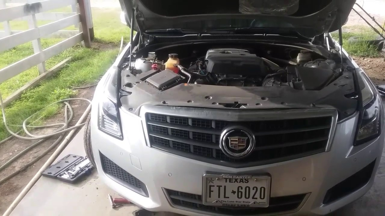 2013 Ats Cadillac Headlight Replacement Youtube