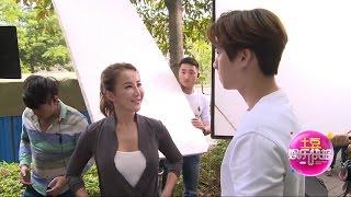 李玟和李易峰拍攝《梔子花開2015》探班視頻