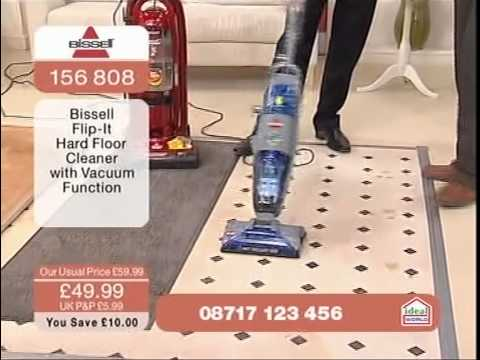 hard floor cleaner bissell flip it floor cleaner being demonstrated on 12633