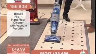 bissell flip it hard floor cleaner being demonstrated on ideal world