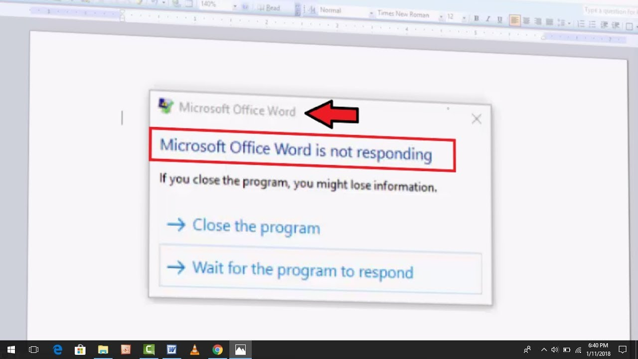 How to Fix Microsoft Word Is Not Responding Error in Windows 10,8,7
