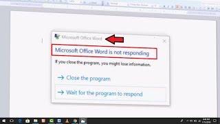 How to Fix Microsoft Word Is Not Responding Error in Windows 10,8,7