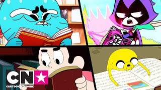 Gumball + Teen Titans Go! + Adventure Time + Steven Universe | Bücher machen Spaß! | Cartoon Network