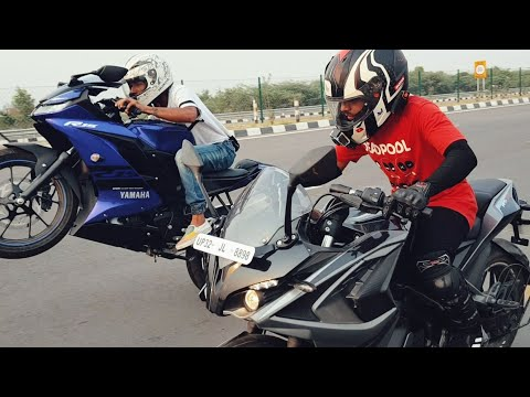 Yamaha R15 V3 VS PULSAR RS200 RACE | TOP END | Highway Battle