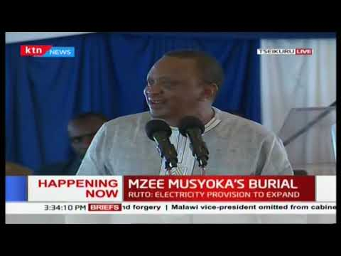 We Must End Ethnicity, And Stand United- President Uhuru Kenyatta At Mzee Musyoka's Burial
