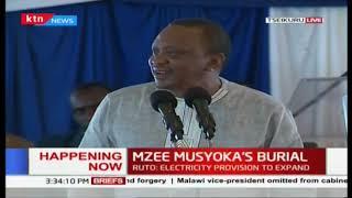 We must end ethnicity, and stand united- President Uhuru Kenyatta at Mzee Musyoka's burial