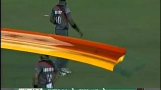 Shapoor Zadran bowling to David Warner and Matthew Wade