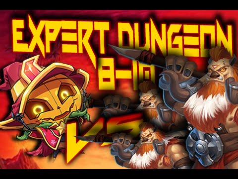 Castle Clash: Expert Dungeon 8-10 ❚ KILL ALL BOSSES!! Kill 'em! ❚ F2P