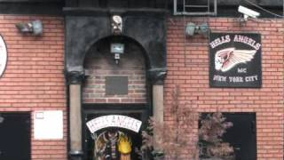 Hells Angels motorcycle club, headquarters East 3rd Street  New York City USA