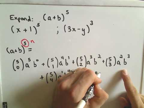 The Binomial Theorem Example 1 Youtube