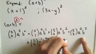 The Binomial Theorem - Example 1