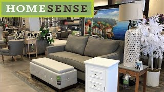 HOME SENSE FURNITURE SOFAS CHAIRS HOME DECOR - SHOP WITH ME SHOPPING STORE WALK THROUGH 4K