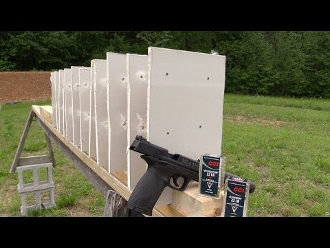 How many pieces of drywall will a 22lr go through?