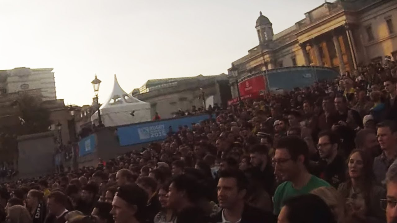 Rugby World Cup 2016 Final Red Arrows Trafalgar Square Fan Zone