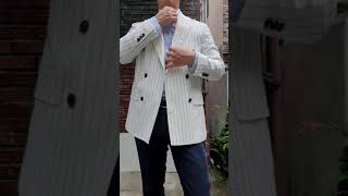 165cm 키작은남자의 화이트 자켓