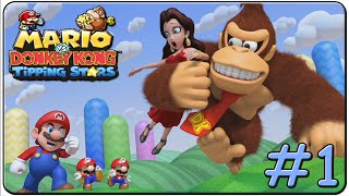Mario vs. Donkey Kong Tipping Stars 100% Walkthrough Part 1 Rolling Hills