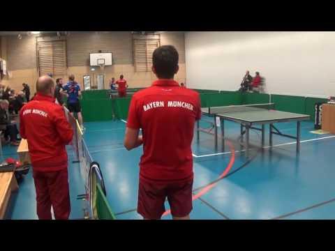 stoni TV  Benes vs Koeppl  Tabletennis Oberliga Windsbach Bayern Muenchen II 20161112