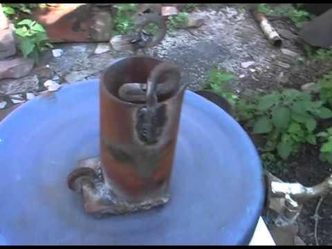 Тигель для алюминия. Изготовление из обрезка трубы  д  70 мм