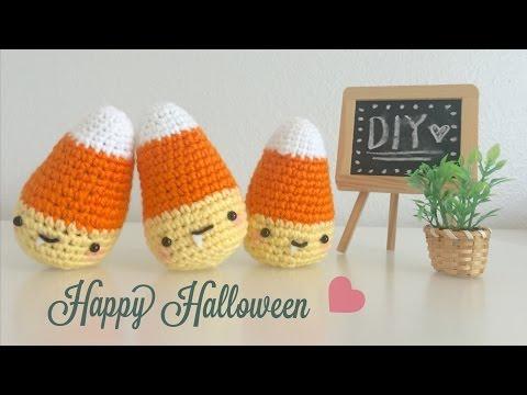 DIY Halloween Candy Corn Crochet Tutorial Amigurumi