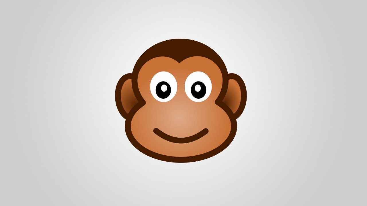 draw cartoon monkey face in inkscape youtube rh youtube com cartoon monkey face paint cartoon monkey face rom game