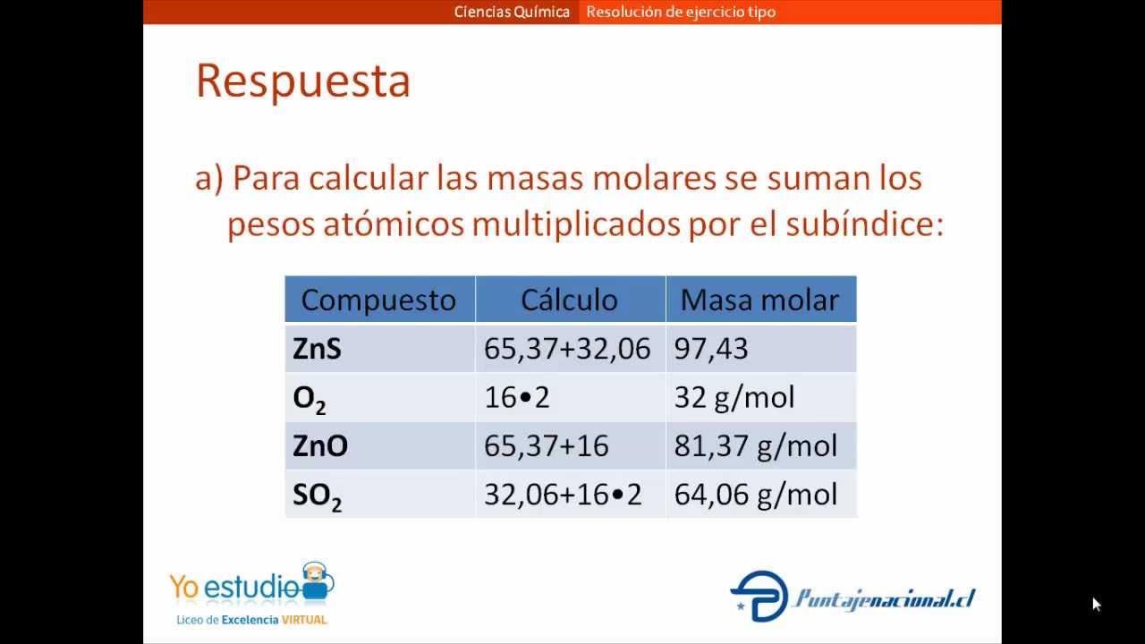 Excepcional Cálculos De EstequiometrÃa Hoja De Trabajo Fotos ...