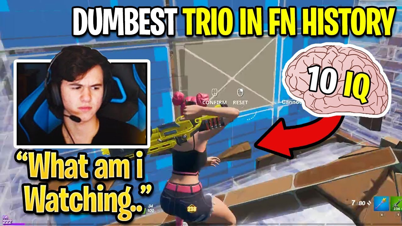 Bugha *CRIES LAUGHING* Watching The DUMBEST Trio in FORTNITE HISTORY