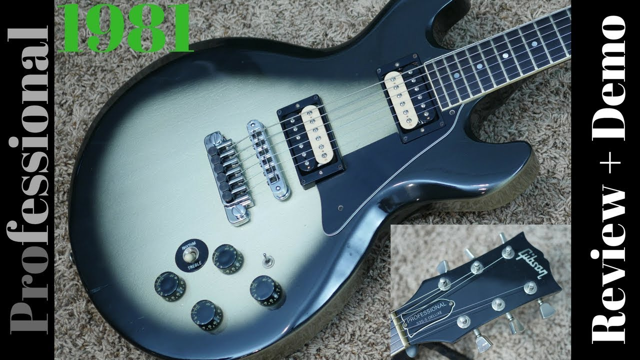 1981 gibson professional 335 s deluxe silverburst review demo youtube. Black Bedroom Furniture Sets. Home Design Ideas