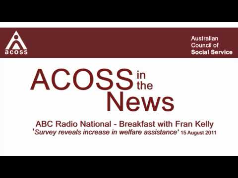 ACOSS in the News - ABC Radio National 15/8/11