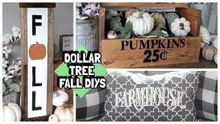 DOLLAR TREE FALLFARMHOUSE  DECOR DIYS 2019 KRAFTSBYKATELYN COLLAB