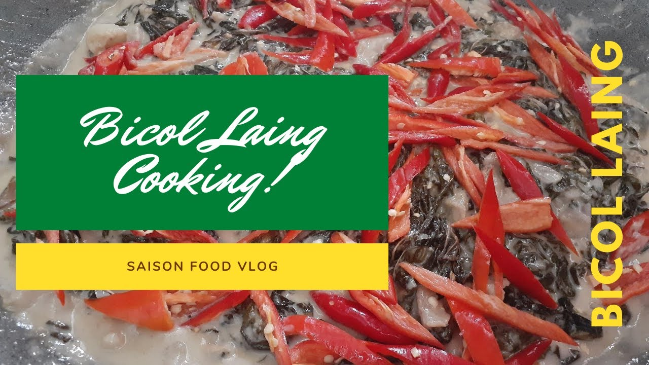 Bicolano Laing cooking - Easy and Cheap Bicol Laing | Saison OFFICIAL