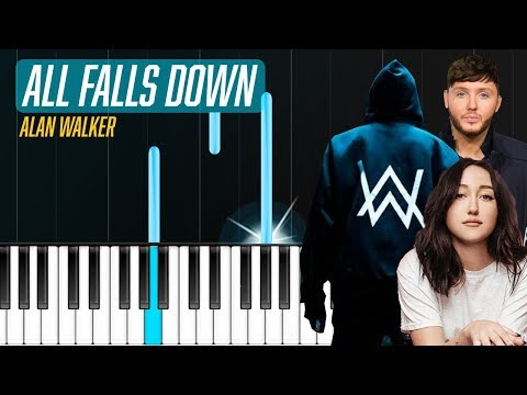 """alan-walker---""""all-falls-down""""-piano-tutorial---chords---how-to-play---cover"""