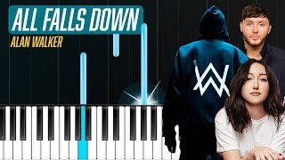"""Download Alan Walker - """"All Falls Down"""" Piano Tutorial - Chords - How To Play - Cover Mp3"""